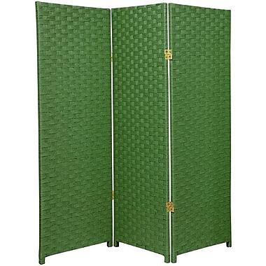 Oriental Furniture 48'' x 48'' Woven Fiber 3 Panel Room Divider