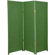 Oriental Furniture 48'' x 48'' Woven Fiber 3 Panel Room Divider