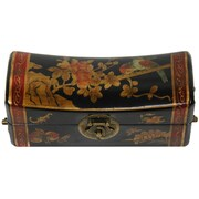 Oriental Furniture Flowers Pillow Box