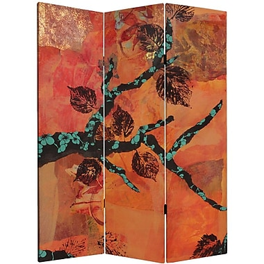 Oriental Furniture 60'' x 47.25'' Rich Autumn 3 Panel Room Divider