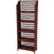 Oriental Furniture 53'' Accent Shelves Bookcase; Mahogany