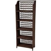 Oriental Furniture Standard Bookcase; Mocha
