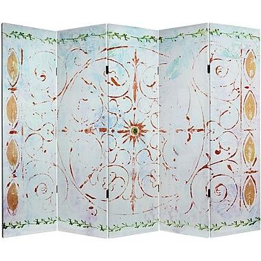 Oriental Furniture 60'' x 78.5'' Winter's Peace 5 Panel Room Divider
