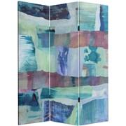 Oriental Furniture 60'' x 47.25'' Ocean Dance 3 Panel Room Divider