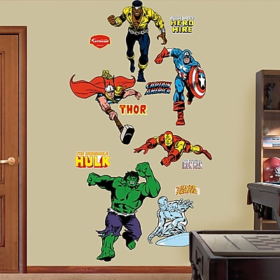 Fathead Super Heroes Classic Heroes Wall Decal WYF078276137092
