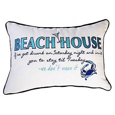 Rightside Design I Sea Life Beachouse Inspiration Cotton Boudoir/Breakfast Pillow