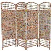 Oriental Furniture 47.75'' x 63'' 4 Panel Room Divider