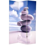 Oriental Furniture 70.88'' x 47.25'' Zen Double Sided 3 Panel Room Divider