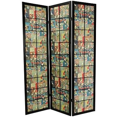 Oriental Furniture 72'' x 51'' Kabuki Shoji 3 Panel Room Divider
