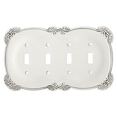 Franklin Brass Arboresque Quad Socket Plate