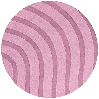 St. Croix Transitions Light Pink Waves Rug; Round 6'
