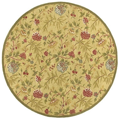 St. Croix Traditions Gold Rug; Round 6'