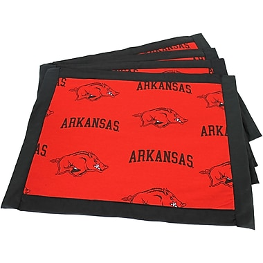 College Covers Border Placemat (Set of 4); Arkansas