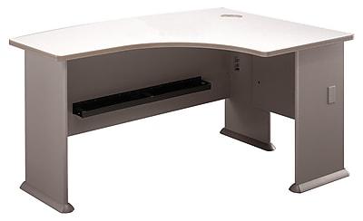 Bush Business Cubix 60W x44D Right Hand L-Bow Desk, Pewter/White Spectrum