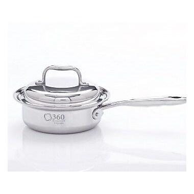 360 Cookware Saucepan w/ Lid; 1-qt.
