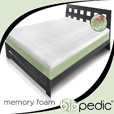 BioPEDIC Extreme Luxury 3'' Memory Foam Mattress Topper; Queen