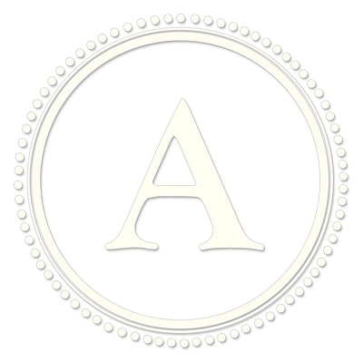 WallPops! WallPops Baby Sheets Durham Monogram and Alphabet Wall Decal; Ivory White