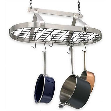 Enclume USA Handcrafted Decor Oval Pot Rack; Stainless Steel