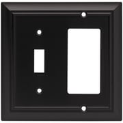 Brainerd Architectural Single Switch/Decorator Wall Plate; Flat Black