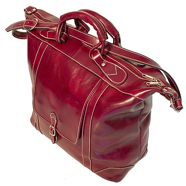 Floto Imports Tack 16'' Leather Travel Duffel; Tuscan Red