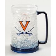 DuckHouse NCAA Crystal Pilsner Glass; Virginia