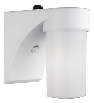 Lithonia Lighting Cylinder 1-Light Outdoor Sconce; White