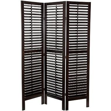 Oriental Furniture 70.25'' x 39.36'' Double Shutter 3 Panel Room Divider