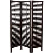 Oriental Furniture 70.25'' x 39.36'' Double Shutter 3 Panel Room Divider