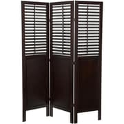 Oriental Furniture 70.75'' x 52.5'' Dutch Shutter 3 Panel Room Divider