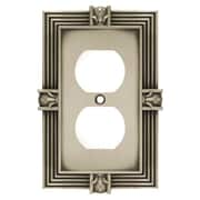 Franklin Brass Pineapple Single Duplex Wall Plate; Brushed Satin Pewter