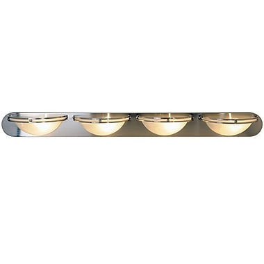 Monument Contemporary 4-Light Bath Bar; 100W Medium Base