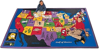 Carpets for Kids Geography Discover America Area Rug; Rectangle 8'4'' x 11'8''