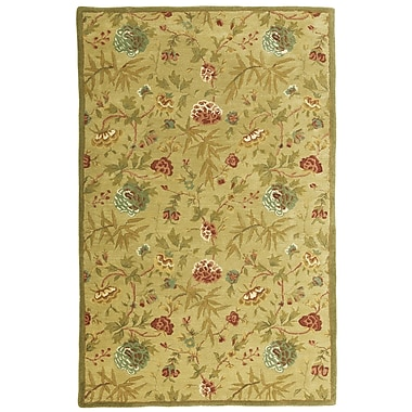 St. Croix Traditions Gold Rug; Rectangle 5' x 8'