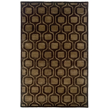 LR Resources Majestic Hand-Tufted Charcoal Area Rug; 5' x 7'9''