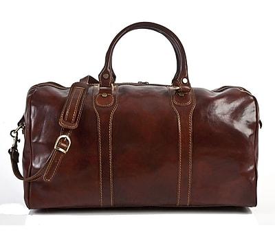 Tony Perotti Amato 20'' Itallian Leather Weekender Duffel; Brown