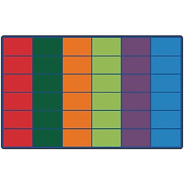 Carpets for Kids Colorful Seating Rows Kids Rug; 8'4'' x 13'4'
