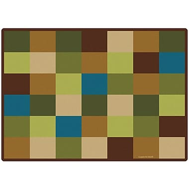 Carpets for Kids Blocks Seating Kids Rug; 8'4'' x 11'8''