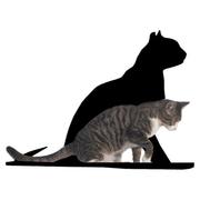 The Refined Feline Silhouette Gaze Cat Perch; Black
