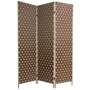 Oriental Furniture 71'' x 54'' Island Outdoor 3 Panel Room Divider