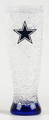 DuckHouse NFL 16 Oz. Crystal Freezer Pilsner Glass; Dallas Cowboys WYF078276161203