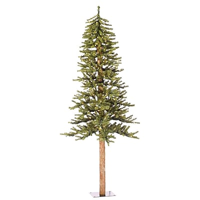 Vickerman Natural Alpine 6' Green Artificial Christmas Tree w/ 250 Clear Lights & Stand