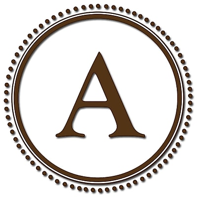 WallPops! WallPops Baby Sheets Durham Monogram and Alphabet Wall Decal; Espresso Brown