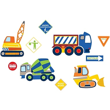 WALL POPS!® Small Wall Art Kit, Construction Zone, 10 Stickers