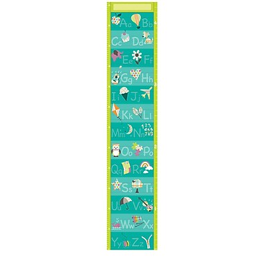 WALL POPS!® Growth Chart Sticker, Alphabet, 9-3/4