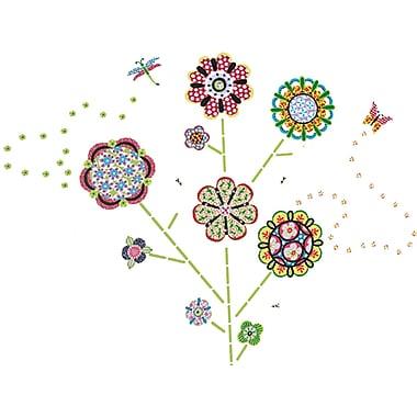 WALL POPS!® Large Wall Art Kit, Flower Power, 116 Stickers
