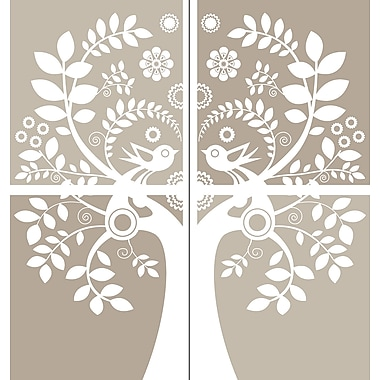 WallPops!MD – Trousse d'art mural, grande, Arbre romantique, 4 autocollants