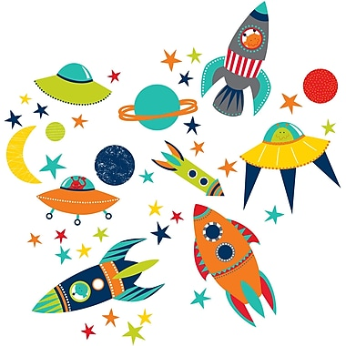 WALL POPS!® Large Wall Art Kit, Blast Off!, 41 Stickers