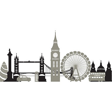 WallPops!MD – Trousse d'art mural, Bienvenue à Londres, 2 autocollants