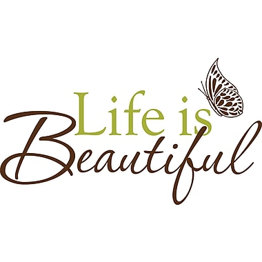 WALL POPS!® Wall Words, Life is Beautiful, 5 Stickers