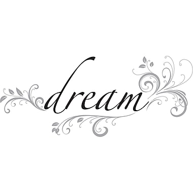 WallPops!MD – Citations murales, « Dream », 4 autocollants